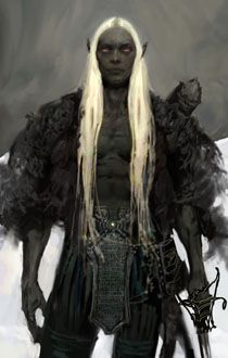 Drow character portrait from Icewind Dale II - inspiration for Ilgatrah
