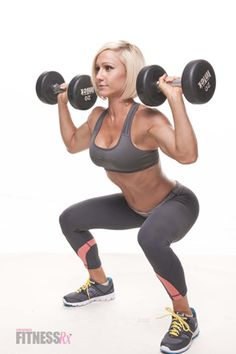 Article on how weight lifting benefits women, plus a full-body wt lifting regimen to get started.
