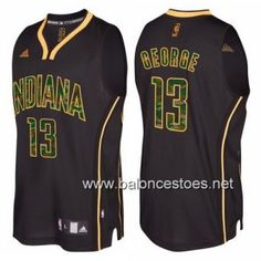 Camiseta nba Indiana Pacers paul george #13 camuflaje moda negro