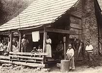 Cherokees at their home in the Smoky Mountains