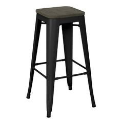 H Stool 75 in Black by Xavier Pauchard and Tolix, US - Home Warei Deas Buy Bar Stools, Kitchen Stools, Counter Stools, Value Furniture, Online Furniture, Furniture Design, Lounge Suites, Garden Bar, Colors