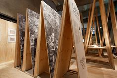 """""""Wood: the cyclical nature of materials, sites, and ideas"""" explores the links between wood in design and architecture and the economic, political and cultural cycle that surround it. Exhibition Stand Design, Exhibition Display, Exhibition Space, Museum Exhibition, Museum Plan, New Museum, Display Design, Booth Design, Banner Design"""