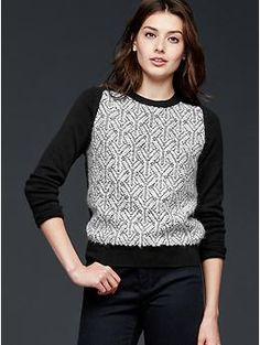 This would be nice for work. Jacquard pullover sweater | Gap
