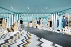 Nendo overhauls womenswear and hat departments at seibu store plan, retail interior Shop Front Design, Store Design, Nendo Design, Store Plan, Japanese Store, Hat Stores, Commercial Flooring, Retail Interior, Department Store