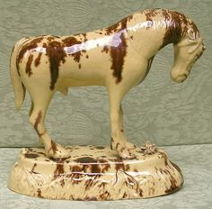 A Very Rare North Yorkshire Stoneware Horse 1780