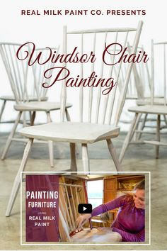 A how-to guide on painting and sealing Windsor chairs and other furniture using Real Milk Paint Products. Painted Chairs, Painted Furniture, Pure Tung Oil, Early American Furniture, Real Milk Paint, Wood Finishing, Windsor Chairs, Powder Paint, Real Wood