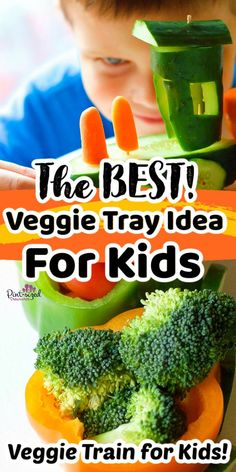 Are you making a veggies tray? Make it more creative by putting this veggie train together like the one from Pint-sized Treasures! This veggie train is so much fun and perfect for a kid's party! Your kids or any child, for that matter, will love it! It is the best idea for kids! Veggie Tray, Kids Meals, Cantaloupe, Veggies, Train, Good Things, Fresh, Recipes, Child