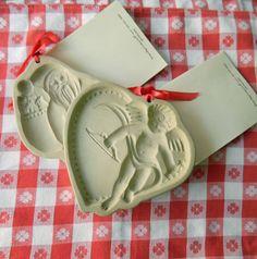 Brown Bag Cookie Molds  Angel and Santa Brown Bag by MyOtherMind, $18.50