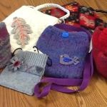 <p>New! Come see our newest collectionoflovely felted purses and Christmas stockings by local artisan Diane Turek. These items combine the best of artisan care and fine design with lovely color combinations and lovely detailing. Wet felting is a beloved craft that was used to make everything from warm coats to …</p>