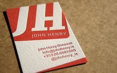 30 Professionally Designed Letterpress Business Cards