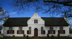 Vredenheim Wine Farm, The Stellenbosch Wine Route, Cape Town. Literally house of peace. South African Wine, Cape Dutch, Dutch House, Garden Walls, Stucco Homes, Dutch Colonial, The Gables, Farm Houses, Beach Homes