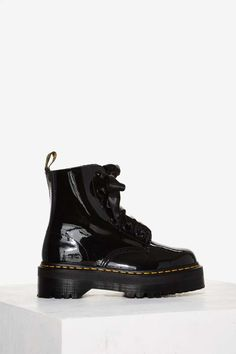 Dr. Martens Molly Leather Boot - Boots + Booties   Platforms   Fall  Essentials  