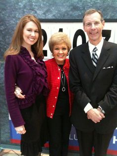 Emily Leonard, Kay Bain and Terry Smith hosting the Regional Rehab Center's Annual Telethon.