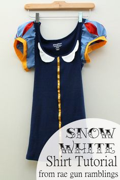 Cute DIY Halloween costume idea || Snow White shirt can someone with skills please make this for me!?