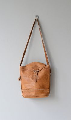 Topanga satchel vintage 1970s bag leather 70s by DearGolden