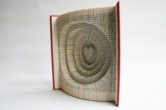 Book Folding Tutorial - Heart and Circles