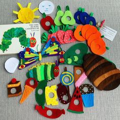 Felt Butterfly Very Hungry Caterpillar Montessori sensory interactive game play toy fruits vegetables cakes butterfly Eric Carle Gift girl Felt Crafts Kids, Diy Arts And Crafts, Felt Fruit, Felt Food, Butterfly Gifts, Butterfly Cakes, Homemade Books, Felt Stories, Very Hungry Caterpillar