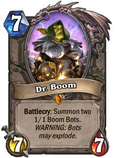 hearthstone dr. boom - Google Search