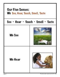 "Touchy Feely: A FIVE SENSES Thematic Unit. It's time to explore! Make a touchy feely book, categorize, experiment. Have FUN with this 42 page ""hands-on"" sensory lesson plan."