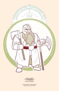 LOTR Characters ( Cartoon) - Gimili