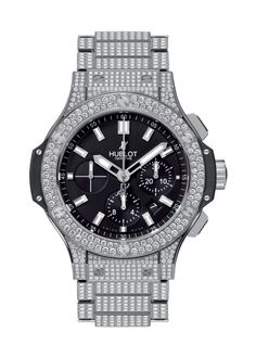 Big Bang Steel Bracelet Full Pavé 44mm Chronograph watch from Hublot