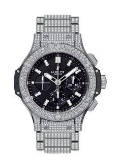 Big Bang Steel Bracelet Full Pavé 44mm Chronograph watch from Hublot