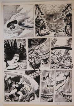 TOM SUTTON original art, PLANET of the APES #29 Pg 18, 14 x 21 , Death Winds Race Comic Art
