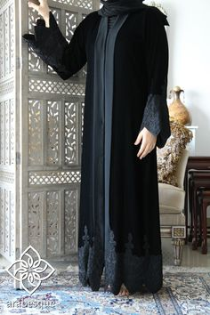 Lujain Black Abaya | Arabesque – Elegance By Design