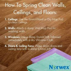 30 Trendy Ideas for spring cleaning norwex tips Spring Cleaning Organization, Spring Cleaning Checklist, Deep Cleaning Tips, Green Cleaning, Natural Cleaning Products, Norwex Products, Organizing, Cleaning Baseboards, Norwex Cleaning