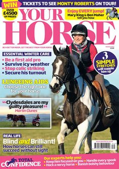 The March issue of #YourHorse is on sale now | We help you and your #horse survive the winter with essential #care advice from our experts covering first aid, #colic, top #turnout tips and how to cope in icy weather. Plus we've got jumping tips from Olympic stars #MaryKing and #BenMaher, three super suppling stretches, a guide to buying the right #lungeingaid for your horse and a brilliant interview with none other than the fantastic #MartinClunes!