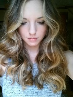 Bayalage blond and honey on brown hair!