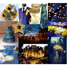 starry night themed wedding | An art collage from August 2010