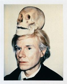 """Andy Warhol, """"Self-Portrait with Skull,"""" 1977."""