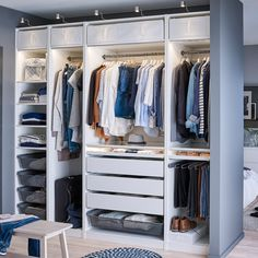 Walk In Closet Organizer Ikea Incredible Astonishing by no means go out of types. Walk In Closet Organizer Ikea Incredible As Closet Ikea, Ikea Closet Organizer, Ikea Pax Wardrobe, Wardrobe Closet, Closet Organization, Organization Ideas, Closet Storage, Ikea Fitted Wardrobes, Wardrobes Uk