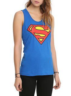 DC Comics Superman Logo Girls Tank Top   Hot Topic