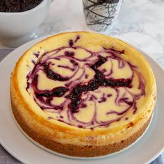 Bakt ostekake med blåbær Muffin Recipes, Cake Recipes, Yummy Drinks, Yummy Food, Canned Blueberries, Vegan Scones, Gluten Free Flour Mix, Scones Ingredients, Vegan Blueberry