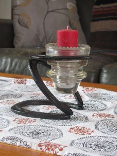 Classy westerm Horse Shoe candle holder. by CowboyCampCreations, $22.00