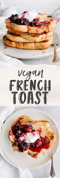 Quick & Easy #Vegan French Toast. #GlutenFree option #SoyFree