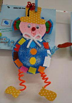 Μέσα σ'ένα σεντουκάκι...: Κλόουν...λίγο πριν έρθουν οι απόκριες(συνέχεια) Clown Crafts, Carnival Crafts, Carnival Costumes, Circus Art, Circus Clown, Paper Plate Crafts, Paper Plates, Crafts For Kids, Diy Crafts
