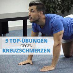 5 TOP-Übungen gegen Kreuzschmerzen, die in 10 Min wahre Wunder bewirken!👍 Im heutigen Beitrag zeige ich Dir 5 wirkungsvolle und äußerst hilfreiche Übungen gegen Kreuz- und Rückenschmerzen, die Dich ein für alle Mal von lästigen Schmerzen im Rückenbereich befreien. 😉 Nehme dir ein paar Minuten Zeit und nutze sie effektiv, um Deine Rückenmuskulatur zu dehnen und zu stärken! ☝ 😉 Was ist Dein Geheimtipp gegen Kreuz- und Rückenschmerzen? 🤔 Rumpf Training, Sixpack Training, Fitness Workouts, Baseball Cards, Sports, Exercises, Fashion Styles, Gain Muscle, Strength Workout