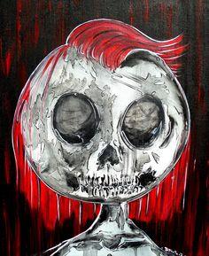 #tattoofacemiller #localart #redheaddead #trash #skullcity #fuckitimdead #skullart
