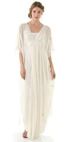 long sleeve hippie wedding dress