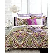 Echo Bedding, Vineyard Paisley Queen Sheet Set