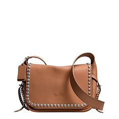 RIVETS DAKOTAH CROSSBODY IN CALF LEATHER | Lord and Taylor