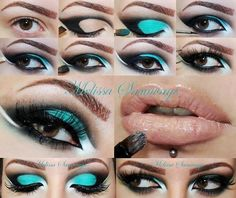 tutorial makeup verde, esfumado preto, ousado, top