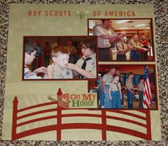 scout scrapbooking layouts pictures - Google Search