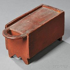 Slide-lid Box with Cutout Handle, America, late 18th/early 19th century