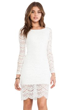 BLAQUE LABEL Lace Dress in White from REVOLVEclothing