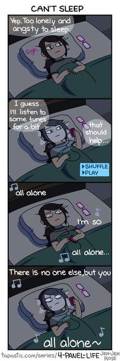 4-Panel Life :: CAN'T SLEEP   Tapastic Comics - image 1