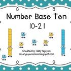 This can be used in for a math center or write the room.  Students count the number of base ten blocks and record their answers on a recording shee...